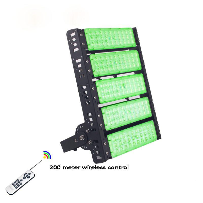 Outdoor remote control 250w RGB led flood light