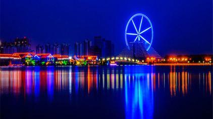 Ferris wheel led lighting