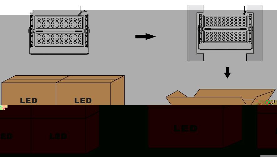 outdoor RGB led flood light 100w