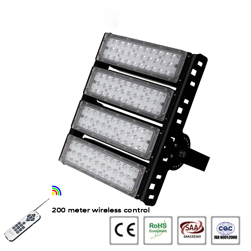 remote control 200w RGB led flood light
