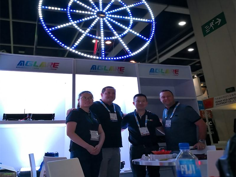 Aglare lighting made a success in the 2018 IAAPA AAE in Hong Kong