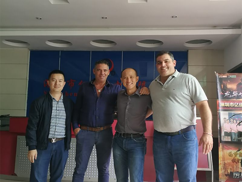 Welcome our Argentina customer come to visit our factory !