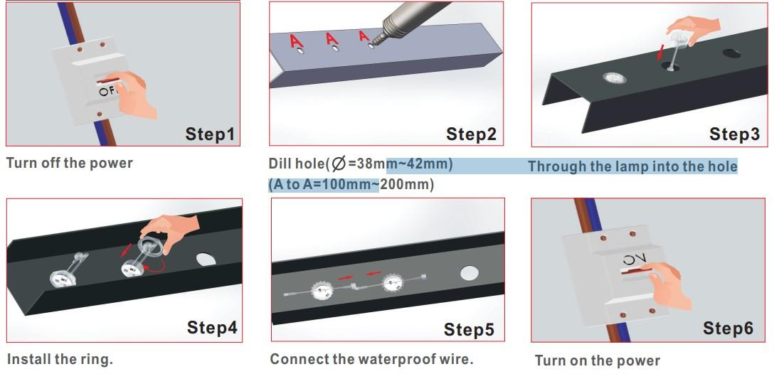 WS2811 led pixel light waterproof