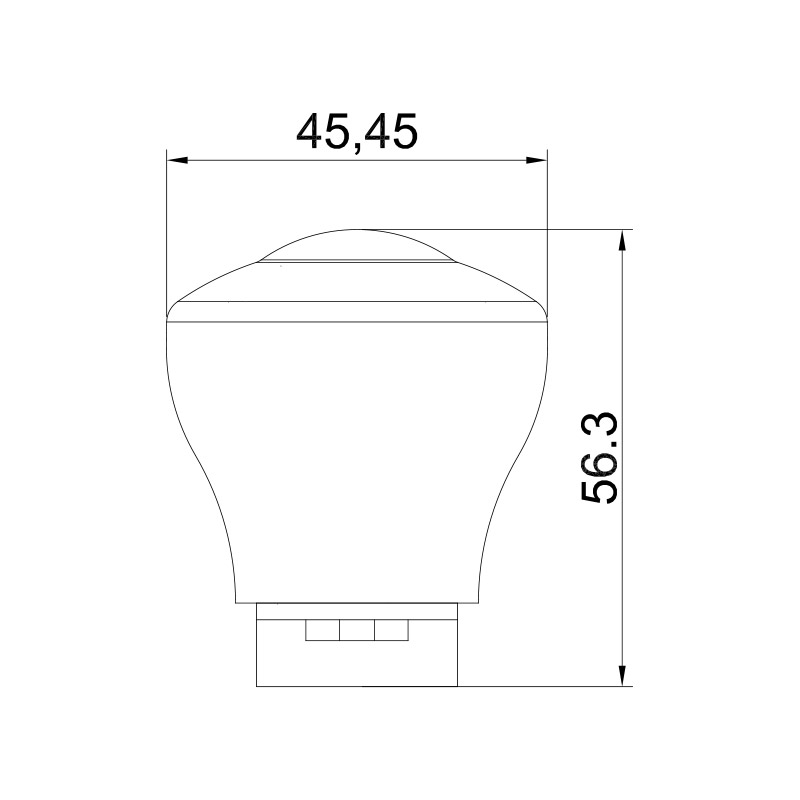 E10 LED Amusement Lamp Housing 45MM