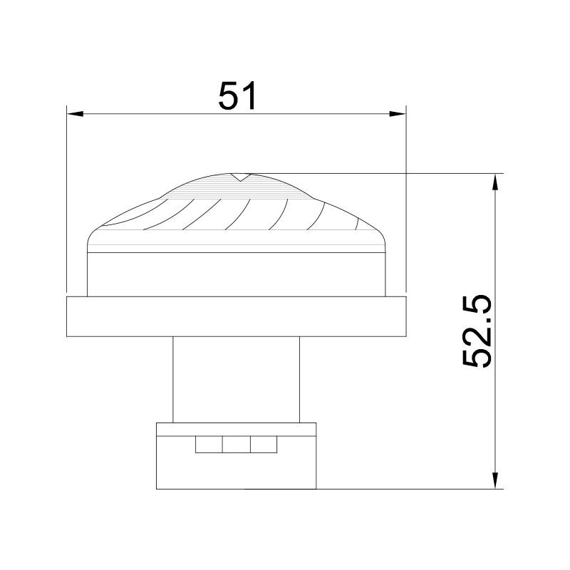 E10 Amusement Led turbo Housing 51MM