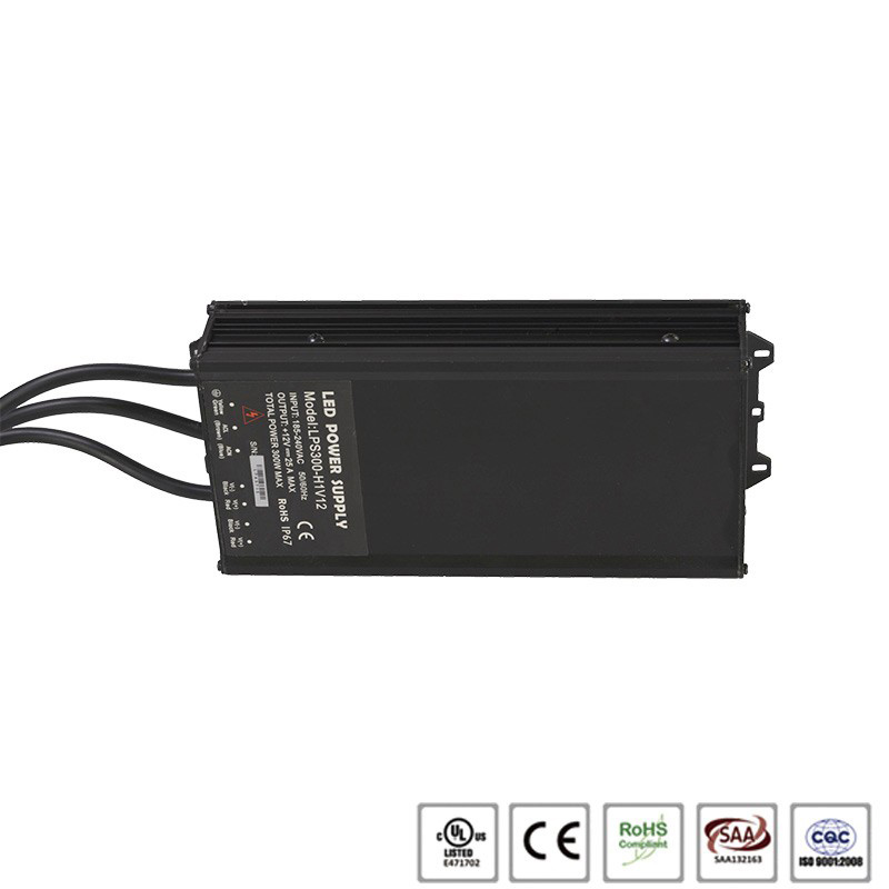 DC 12/24V 25A IP65 300W led switching power supply