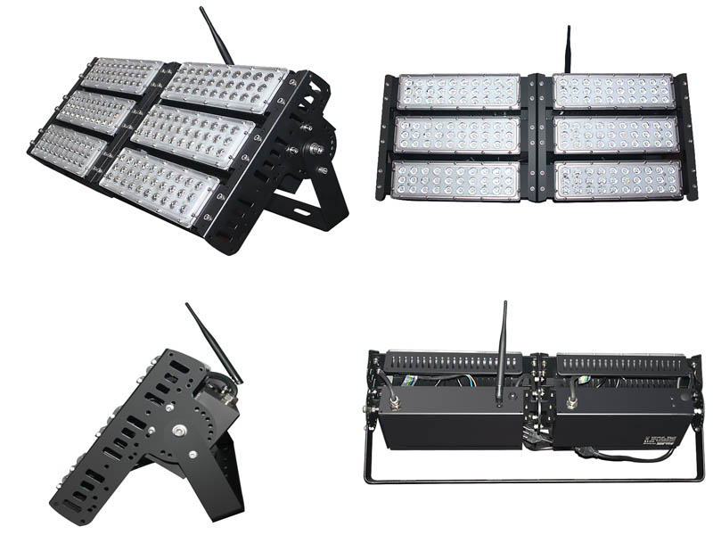 colorful led flood light with remote