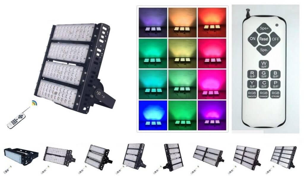 wireless control RGB LED floodlight