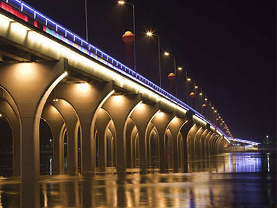 How to make the bridge more beautiful with colour led flood lights?